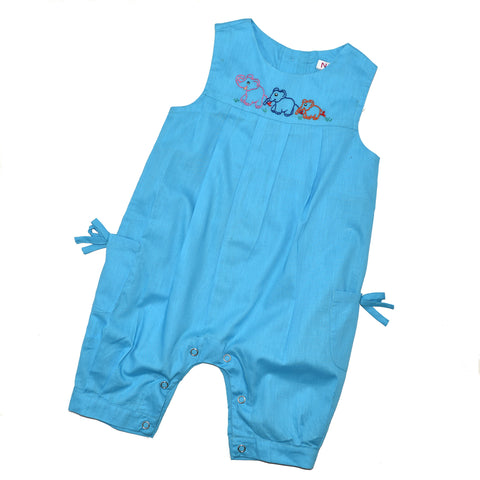 Onesie Jumper with Elephant Family - Blue