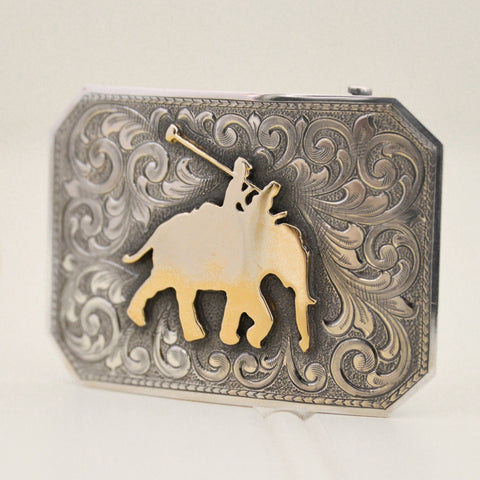 Clint Orms Belt Buckle - Comanche-Custom Gold