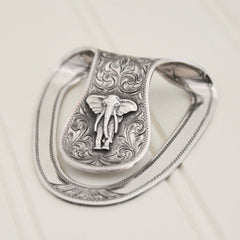 Clint Orms Money Clip - San Jac-1805 with Silver Elephant
