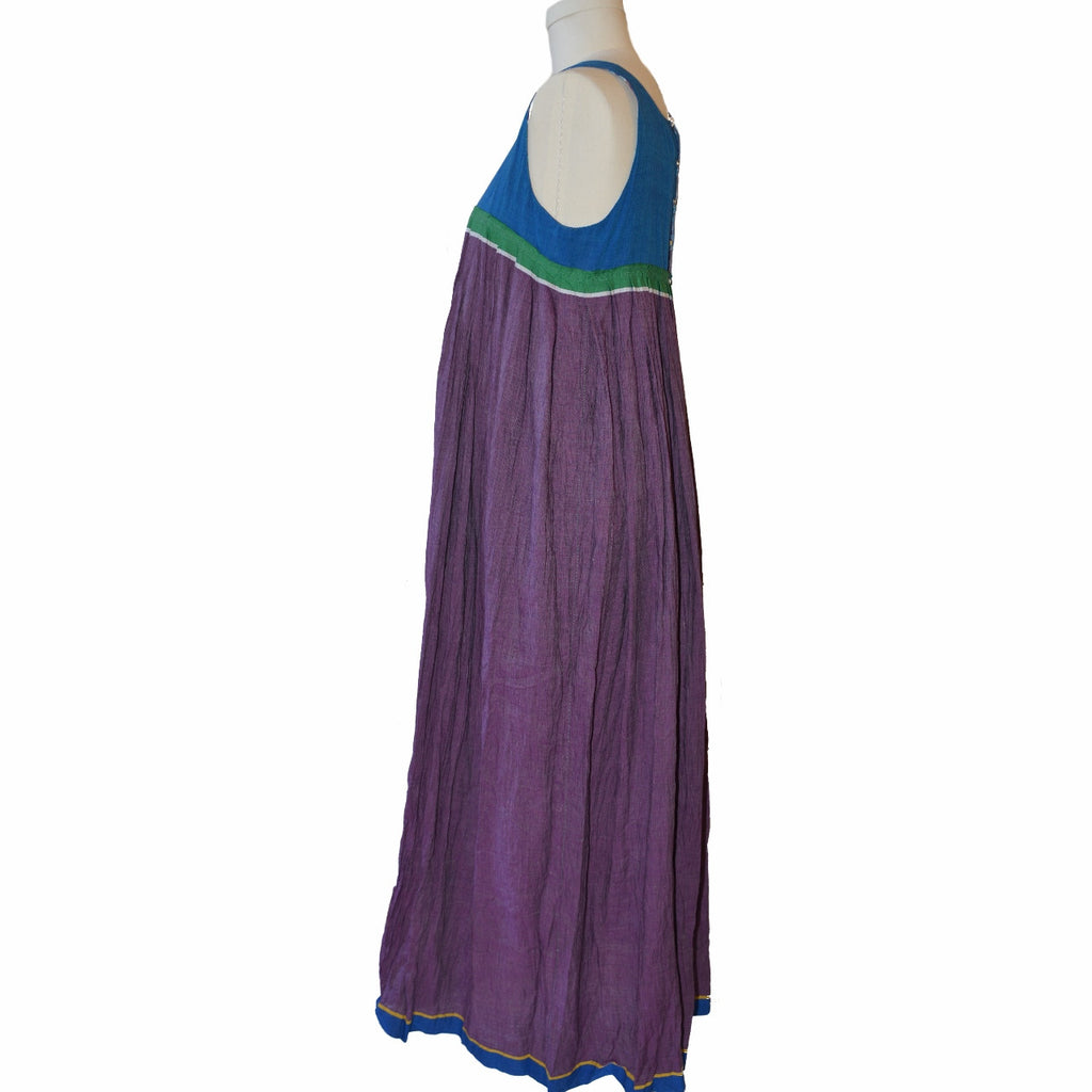 injiri Madras Dress (Blue,Green,Purple)