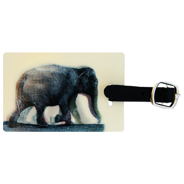 Animated Elephant Luggage Tag