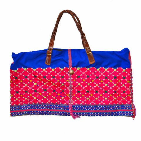 Karen Hill Tribe Bag with Leather Straps