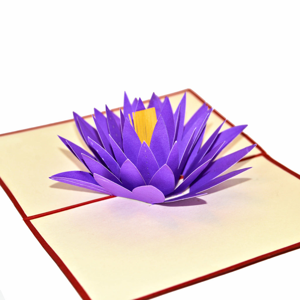 Lotus Flower - Vietnamese Hand-made Pop-up Card