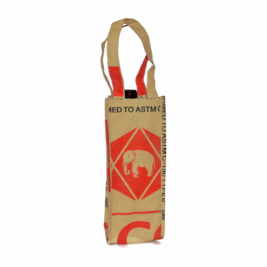 Elephant Cement Single Bottle Wine Carrier