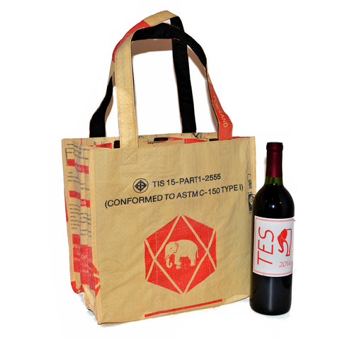Elephant Cement 6 Bottle Wine Carrier