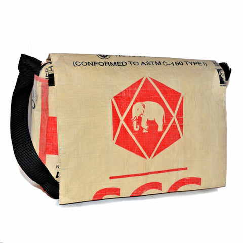 Elephant Cement Messenger Bag