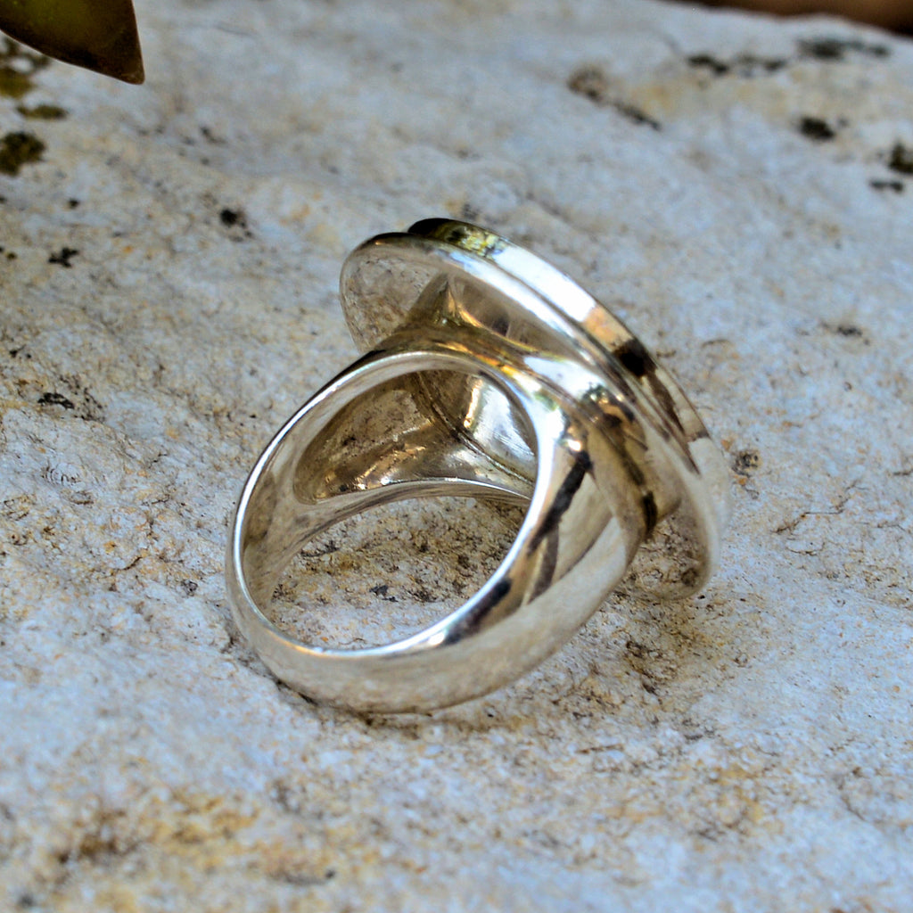 Thai Sterling Silver Coin Ring
