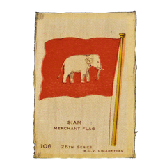 Vintage Siam Flag Cigarette Silks