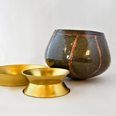 "Monk's Begging Bowl (8"" bowl with Stand and Lid)"