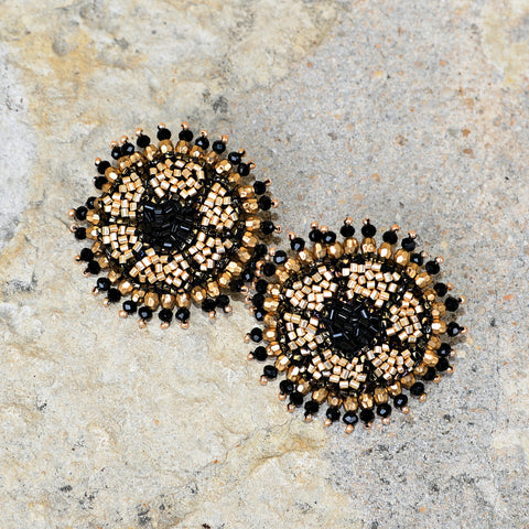 Hand-Beaded Earrings