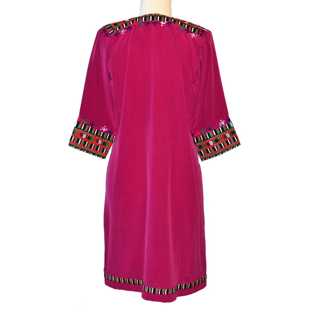 Limited Edition Embroidered Silk Crepe Dress #291