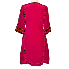 Limited Edition Embroidered Silk Crepe Dress #269