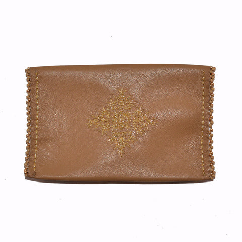 Beaded Leather Card Holder