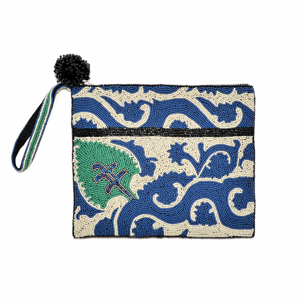 Beaded Clutch Bag with Hand Strap