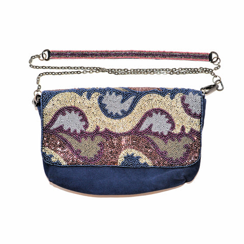 Beaded Clutch Bag with Removable Shoulder Strap