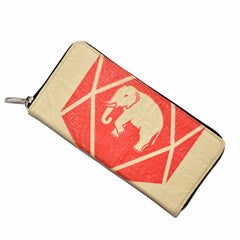 Elephant Cement Woman's Wallet with Zipper Closure