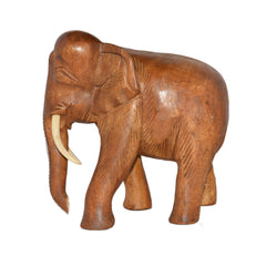 Hand Carved Elephant Figure (12 inch, Light Color)