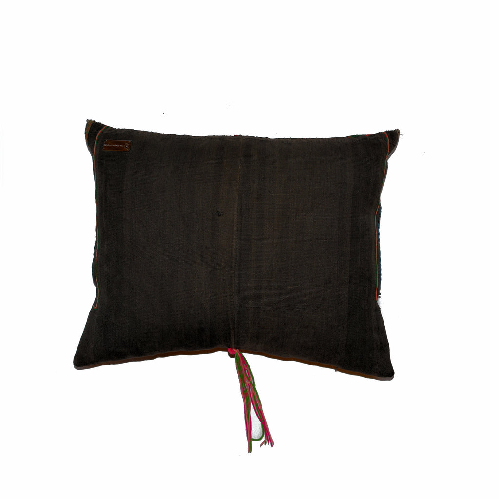 Pillow of Vintage Akha Hill Tribe Jacket