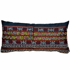 Pillow of Vintage Akha Hill Tribe Top