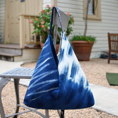 Hand-Painted Indigo Bag