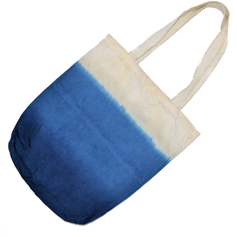 Indigo Dip-Dye Shopping Bag