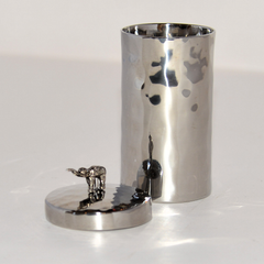 Stainless Steel Jar with Elephant on Lid