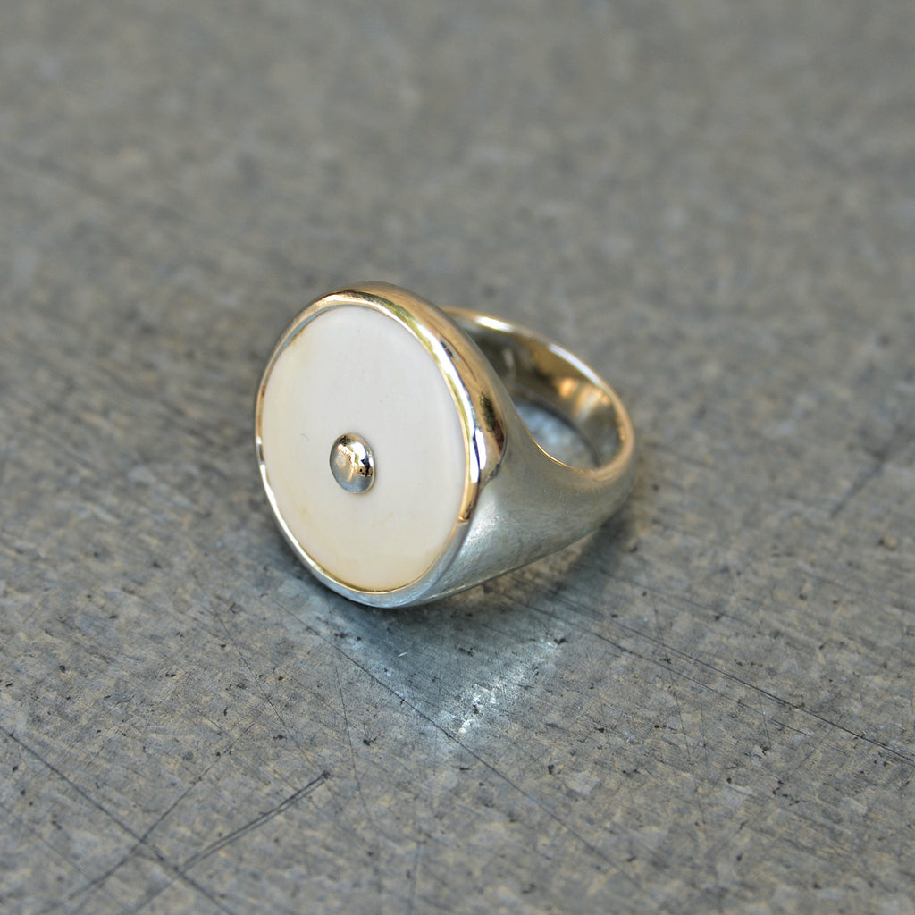 Sterling Silver and Conch Shell Ring