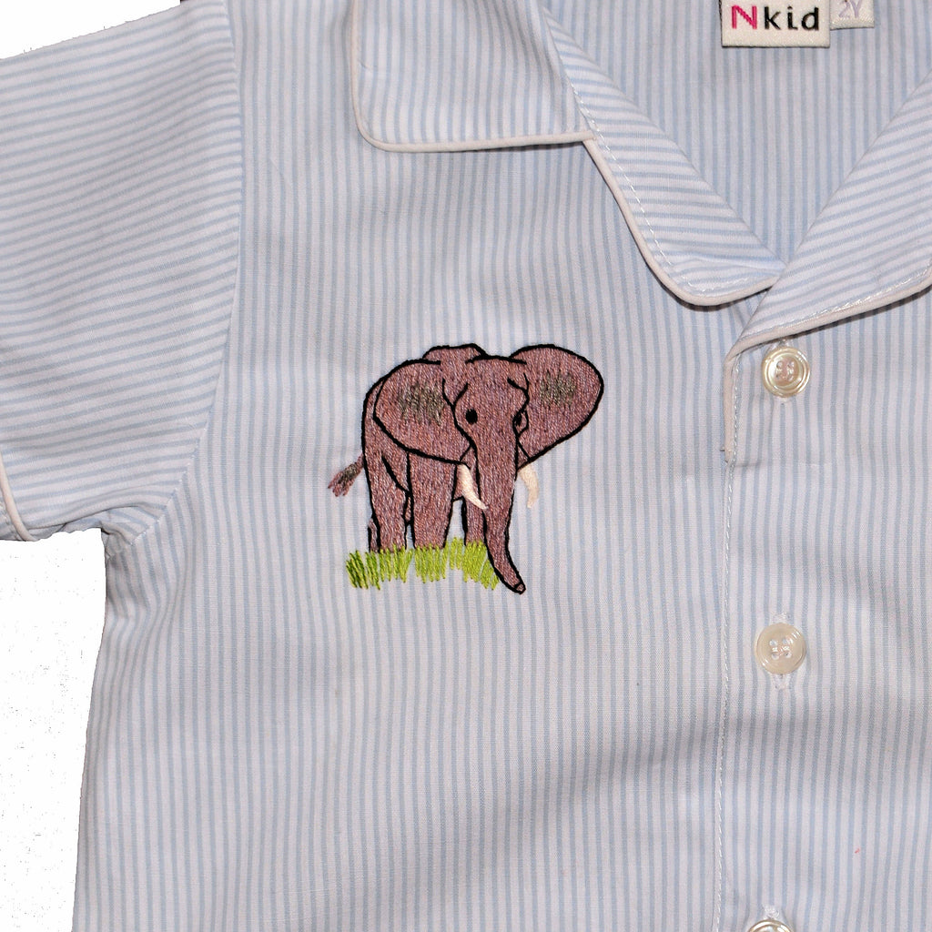 Cotton Pajamas with Embroidered Elephant (2 Year Old)