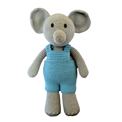Crochet Elephant Plush Toy (Boy)