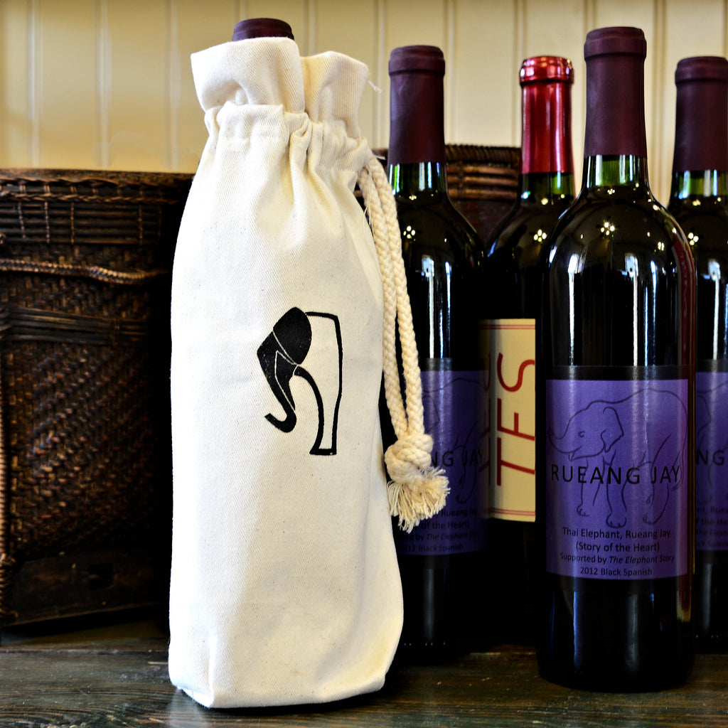 The Elephant Story Logo Bottle Bag