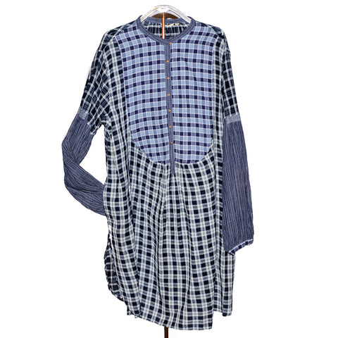 injiri Boro 32-Navy Plaid Shirt