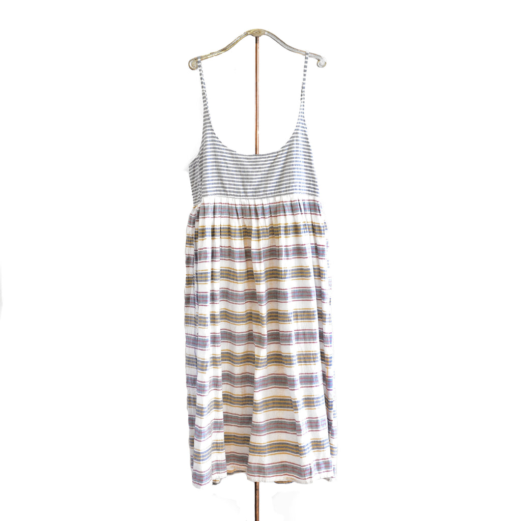 injiri Guler 44-Stripe Spaghetti Strap Slip Dress