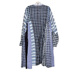 injiri Boro 30 Long Sleeve Striped with Checks Dress