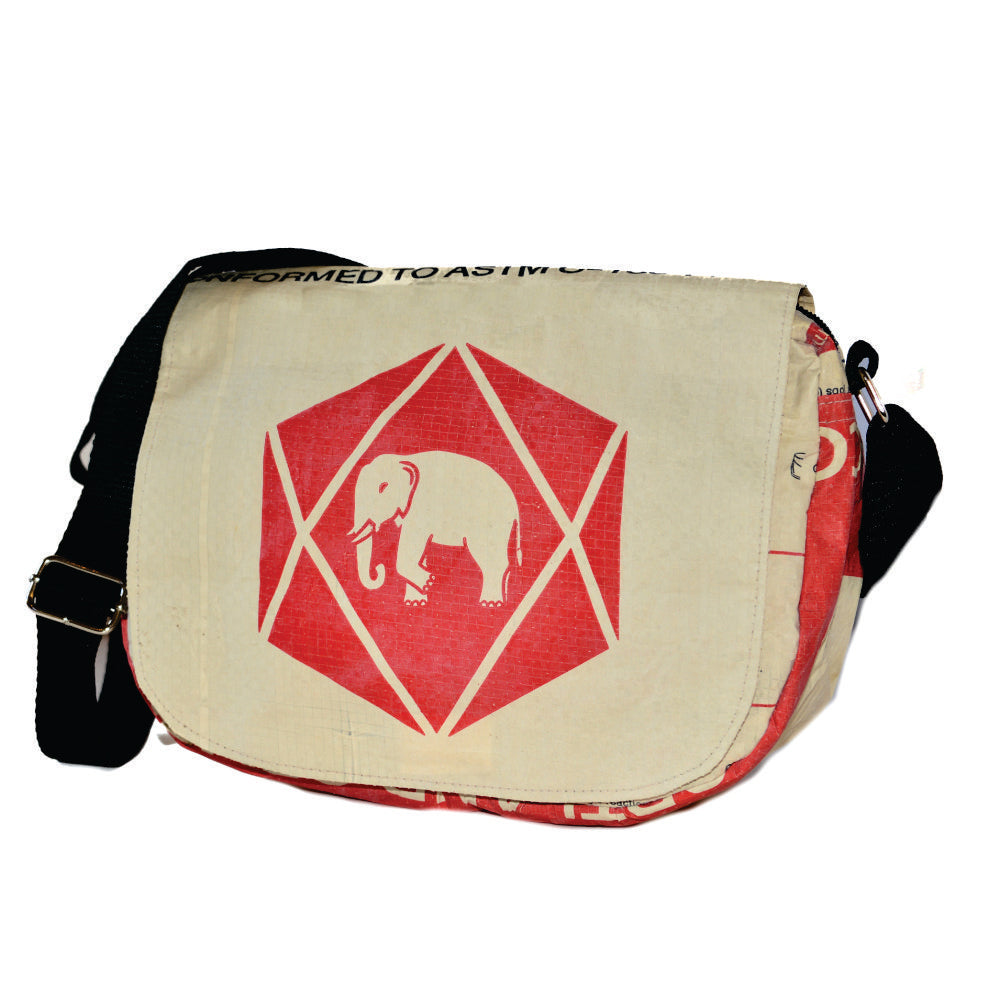 Elephant Cement Small Messenger Bag with Round Corners