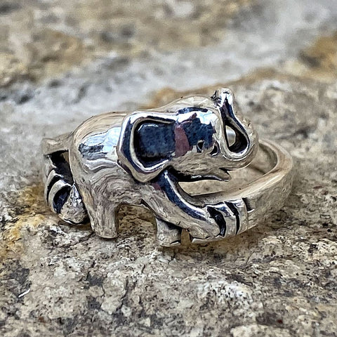 Single Sterling Baby Elephant Ring