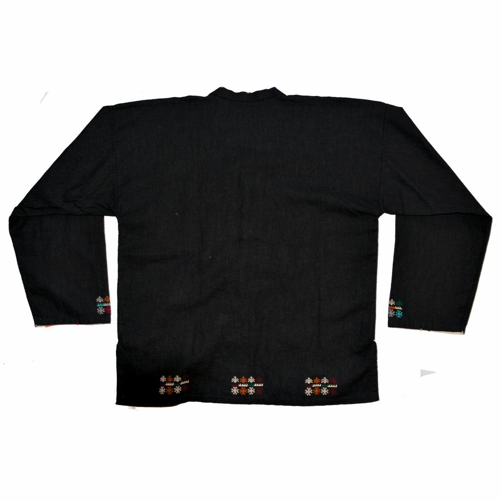 Black Hmong Jacket with Silver Buttons