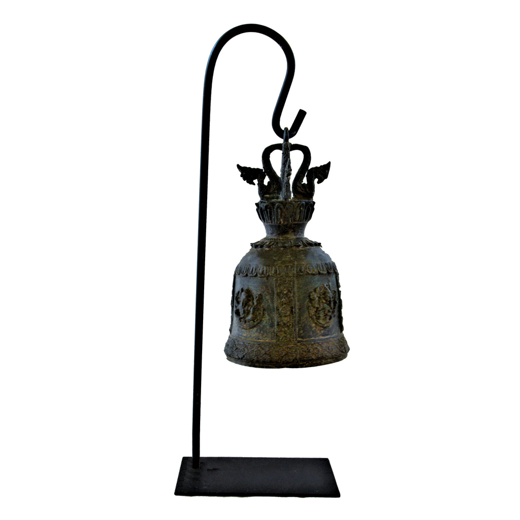 Elephant Temple Bell on Metal Stand (Ganesha Elephant)