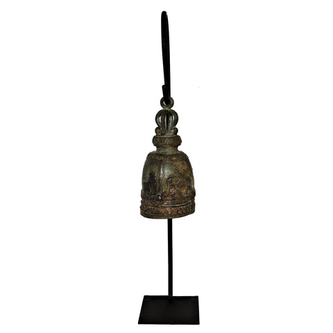 Elephant Temple Bell on Metal Stand (Walking Elephant)