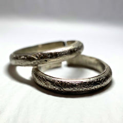 Vintage Silver Tribal Bangle