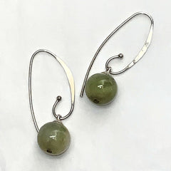 Jadeite Ball Earrings