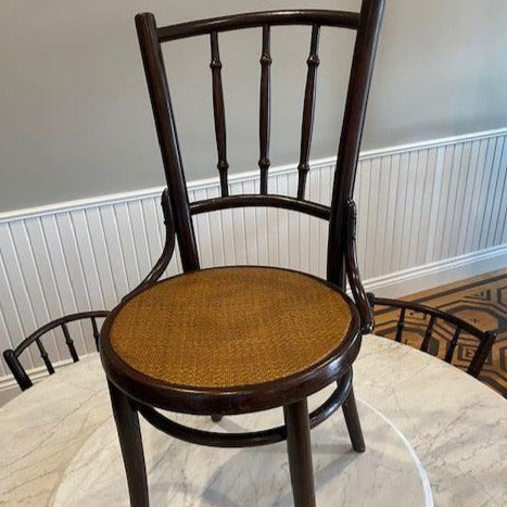 Antique Thai Bistro Chairs with Original Cane Seating