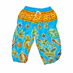 Childrens Elephant Print Pants - Multi-Color