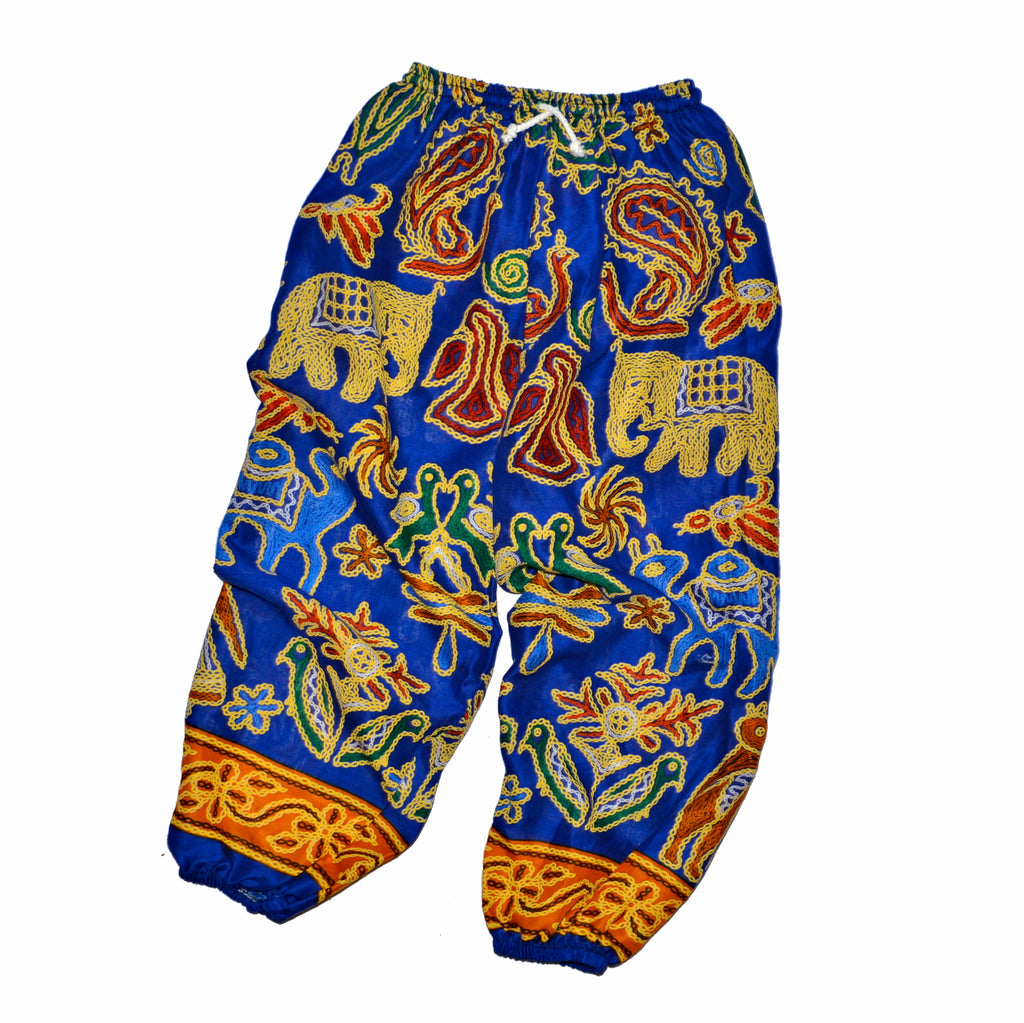 Youth Elephant Print Pants - Multi-Color