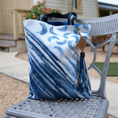 Hand-Painted Brush Stroke Indigo Bag