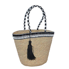 Beaded Basket Bag