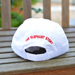 Red Elephant Canvas Hat (White)