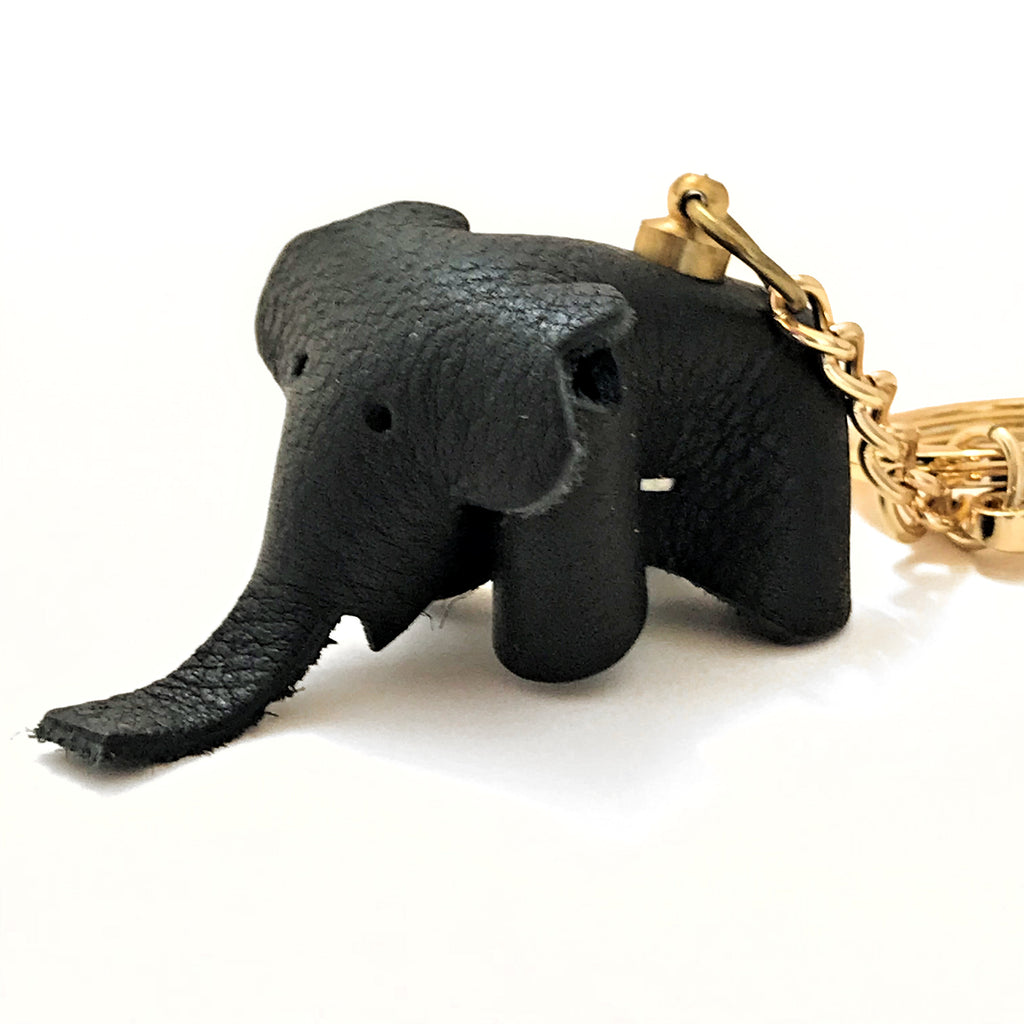 Leather Elephant Keychain