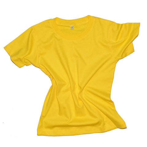 Childrens Cotton T-Shirt - Yellow