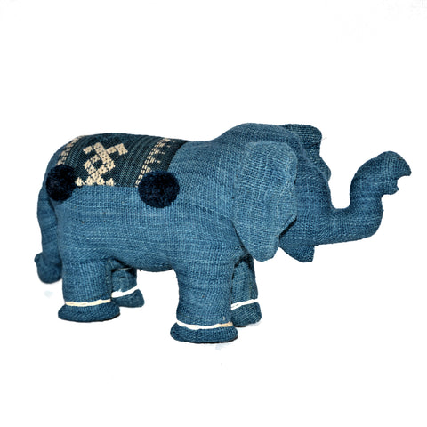 Large Light Blue Stuffed Elephant