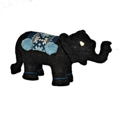 Black and Blue Stuffed Elephant